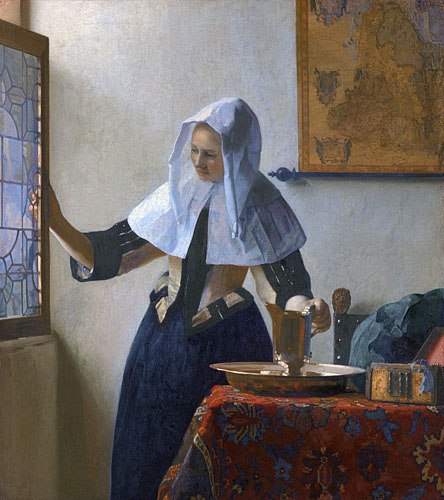 Young woman with a water pitcher  *oil on canvas  *45.7 x 40.6 cm  *ca. 1662