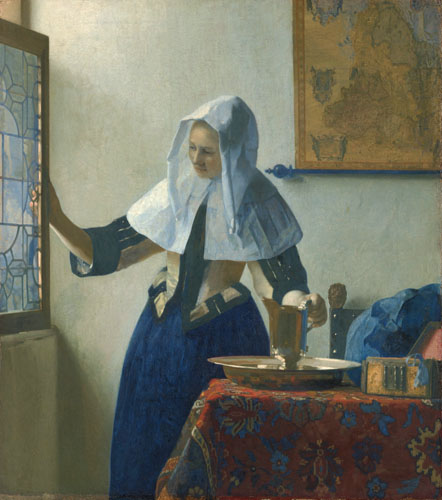 Working Title/Artist: Young Woman with a Water Pitcher Department: European Paintings Culture/Period/Location:  HB/TOA Date Code: 09 Working Date: ca. 1660-67 photography by mma, DP145946.tif  touched by film and media (jnc) 8_24_09