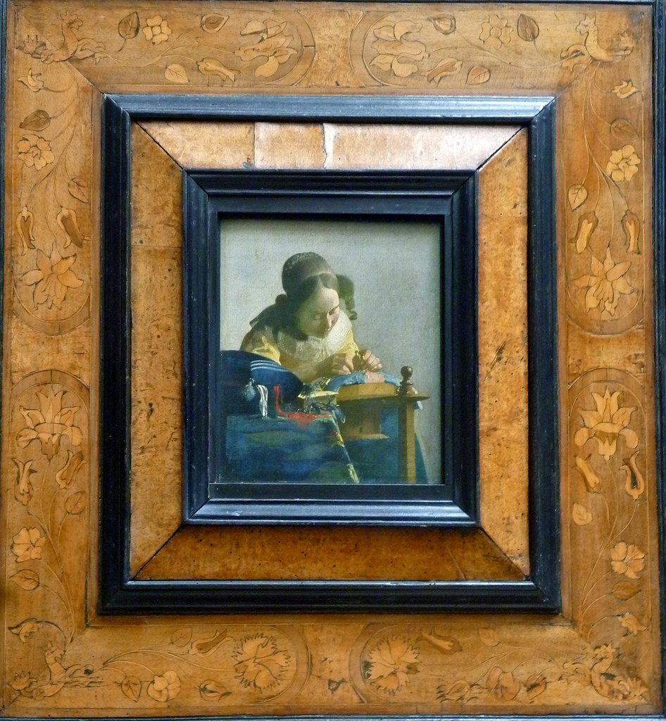 the lacemaker - vermeer in frame